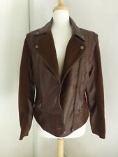 Women's Members Only Burgundy Vegan Jacket Size Large