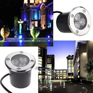 3W LED In-ground Light Waterproof IP65 Floor Outdoor Garden Landscape Path Lamp