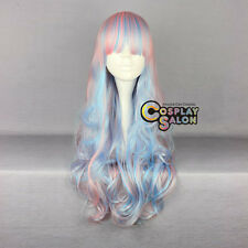 Ombre Lolita Anime Pink Mixed Blue Mixed White Long Curly Cosplay Party Wig
