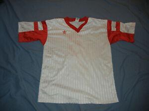 VTG 90's Adidas soccer jersey white red trefoil #5 blank XL Polyester football s