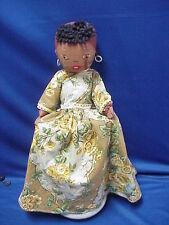 "Vintage Cloth Black Americana Aunt Jemima Toaster Cover NICE  11"" plus Dress"