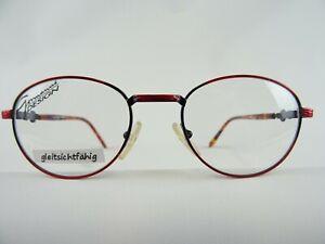 Rot schwarz Pantobrille Brillen stabil Federbügel für das kleine Gesicht  Gr. S