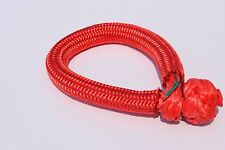 Red 9mm*80mm ATV Winch Shackle,Soft Shackles,UHMWPE Synthetic Shackle,Winch Rope