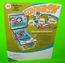 GRIDIRON Baseball FLYER Pinball Machine Pitch And Bat Arcade Game WILLIAMS 1969