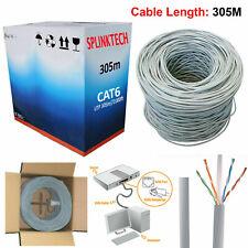 305M RJ45 Cat6 Network Ethernet UTP 4 Pair OUTDOOR Roll Reel Cable ADSL Modem UK