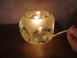 Peil & Putzler Ice-Cube TA 14 Glaslampe Lampe Tischlampe  Vintage 60er 70er