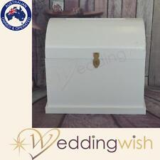 Wedding Wishing Well - Large White Wooden Treasure Chest - Wedding Card Keeper