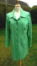 Monsoon green linen coat size 18                               B37