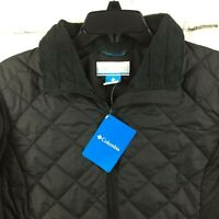 Columbia Womens MED LARGE 2XL Snowmelt Valley II Black Quilted Puffer Jacket C19