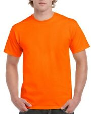 5 pieces hi vis safety orange t-shirt round neck tee workmans tshirt tees shirts