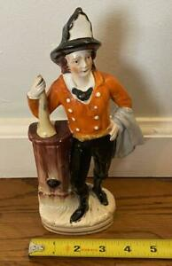Antique Staffordshire FIREMAN Figure With Speaking Trumpet English C. 1850