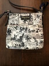 Dooney & Burke Disney Mickey Mouse Comic Letter Carrier Shoulder Bag Blk/White