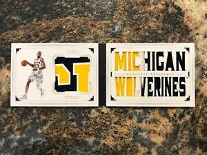 Caris LeVert 2016-17 National Treasures Collegiate Booklet Patch 3/5 Michigan