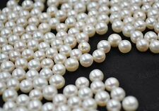 Stunning Lots 6mm round pearl half drilled Free shipping