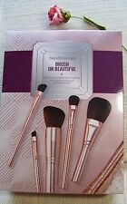 bareMinerals BRUSH ON BEAUTIFUL 5-pc BRUSH COLLECTION & BAG rose gold tone~ NIB!