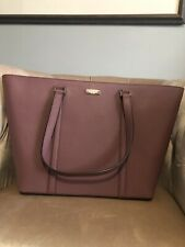 Kate Spade Newbury Lane Jules Large Leather Tote Bag Handbag Plumberry Purple