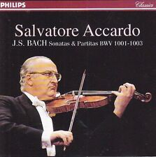 BACH Sonatas & Partitas CD Ermitage SALVATORE ACCARDO Violin