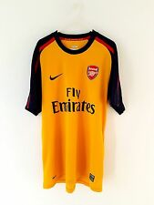 Arsenal Away Shirt 2008. Medium. Nike. Yellow Adults Short Sleeves Football Top.