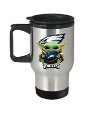 Philadelphia Eagles Fan Gift Cute Yoda Eagles Coffee Travel Mug Christmas Gift