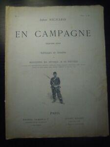"""Jules Richard, """"En Campagne"""" (Tableaux et Dessins) 2e série. N°1. Fin XIXe s."""