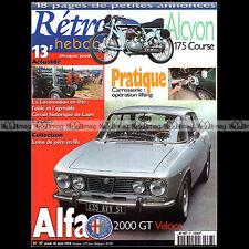 RETRO HEBDO N°67 ALFA ROMEO 2000 GT VELOCE ALCYON 175 COURSE BUICK ROADMASTER