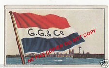 FLAG DRAPEAU GEORGE GIBSON & CO ltd LEITH GREAT BRITAIN CARD IMAGE 30s