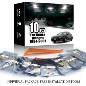 10x White LED Interior Light Package Kit for ACURA INTEGRA 1994-2001