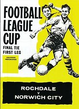 LEAGUE CUP FINAL 1962 Rochdale v Norwich - FULL REPRINT