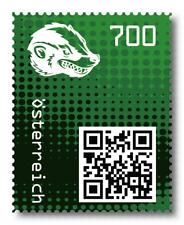 Österreich, 2020, Crypto Stamp 2.0, Honigdachs, grün, 5-stellig, postfrisch **