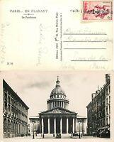 2115 - Francia - Annullo lineare Stazione di Parigi (Paris gare) su cartolina