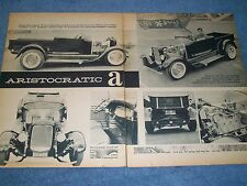 """1928 Ford Model A Roadster Hot Rod Pickup Vintage Article """"Aristocratic A"""""""