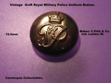 Vintage GVIR Royal Military Police Uniform Button. Maker: C.Pitt.&Co.Ltd.AH1197