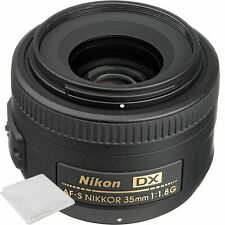 Cámara Digital Nikon 35mm f/1.8G Af-s Dx Lente Para Niko SLR + nuevo Paño