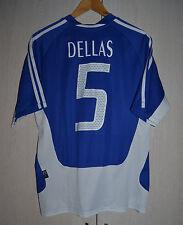 GREECE 2004 EURO HOME FOOTBALL SHIRT JERSEY MAGLIA ADIDAS #5 DELLAS