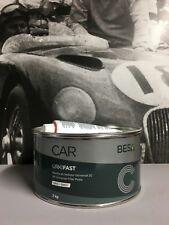 Peinture Auto/Moto: 2 kg Mastic polyester universel carrosserie + durcisseur