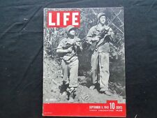 1943 SEPTEMBER 6 LIFE MAGAZINE - AMERICAN SOLDIERS HUNTING JAPANESE - L 355