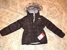 THE NORTH FACE GOTHAM GOOSE DOWN BLACK COAT W/ HOOD JACKET S (7-8) YOUTH NWT