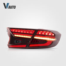 ALL LED Tail Lights Fit For Honda Accord 2018 2019 2020 Red Lens Assembly