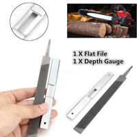 1Pc Steel 7.4'' Flat  & 1Pc 5'' Depth Gauge Guide for General Chainsaw