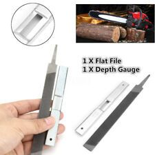 1Pc Steel 7.4'' Flat File & 1Pc 5'' Depth Gauge Guide for General Chainsaw File