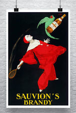 Brandy Art Deco Liquor Advertising Poster Giclee Print on Canvas or Paper