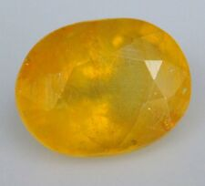 5.32 cts Natural UnHeated Oval-cut Yellow SI2/translucent Sapphire (Thailand)