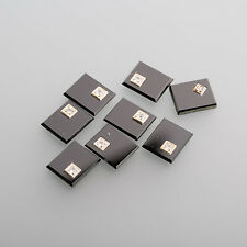 Onyx Cabujón Piedra de anillo hombres 12x10mm rectángulo con negro / BOX (1) - 2