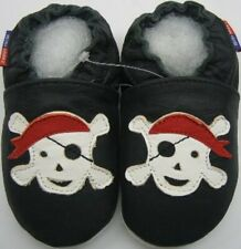 soft sole shoes minishoezoo pirate black 4-5y US 12-13 chaussons bebe