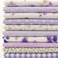 Fat Quarter Fabric Bundle VINTAGE LILAC FLORAL ROSES FLOWERS Polycotton Fabric