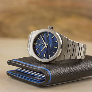 AP Oak & Nautilus Homage Watch RO Automatic Steel Royal Blue Dial Swiss Lume