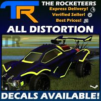 [PC] Rocket League Every Distortion Very Rare Decal Octane Dominus GT etc.