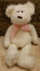 "Fine Toy Hope Teddy Bear Plush White 21"" Stuffed Animal"