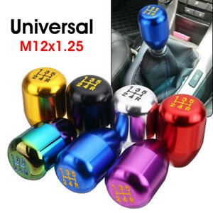Universal Car 5 Speed Aluminum Shift Knob Manual Gear Stick Shifter Lever Silver