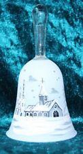Weihnachtsglocke Glocke Glöckchen aus Glas weiß handbemalt